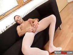 See: A homo cums on nylons