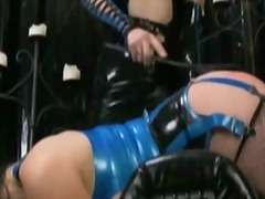 big, boobs, toys, latex, brunette, toy