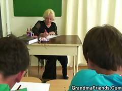 Mature teacher is fuck...