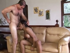 Tranny gagged fucked & fisted