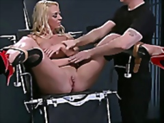 Hot blonde strapped in... video