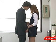 Office lady giving blo... video