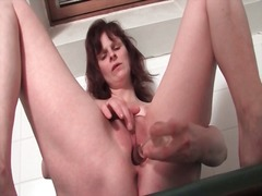 close, dildo, mature