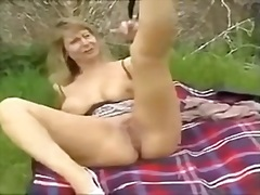 wife, from, mature, outdoors