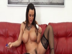 Lisa ann solo in black stockings