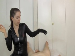 Thumb: Catsuit Gloves Tease D...