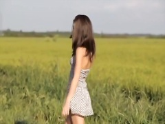Private Home Clips Movie:Cute girlfriend posing in public