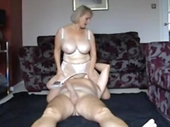 Blonde mature wife has...