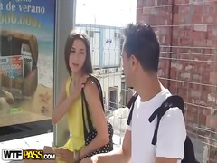 Ah-Me Movie:Public teen pick up at bus stop