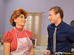 Vporn Movie:HDVPass Sexy Redhead Housewife...