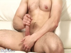 Alpha Porno Movie:Big cock with a curve masturba...