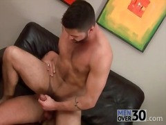 Alpha Porno Movie:Bottom with a beard nailed in ...