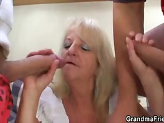 Blonde granny in hot t...