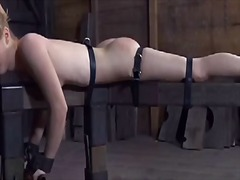 Thumb: Caged babe forced to g...