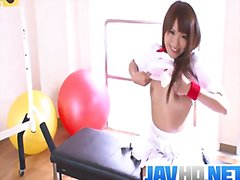 Workout girl suzu minamoto works her pussy