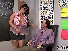 Naughty Schoolgirl Gives Handjob