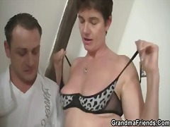 Hot threesome with nasty granny