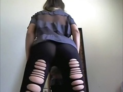 Sensual brunette tease... video