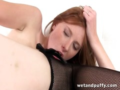 Redhead with a speculum in... - 05:55