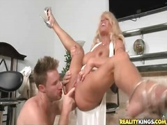 tits, milf, eating, pussy, fingering