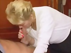 Horny granny just loves to fuck