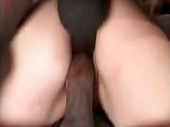 Baby doll in a interracial gangbang