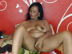 mature, granny, webcam, ebony, black,