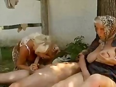 threesome, cumshot, mature, granny,