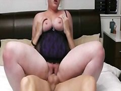 Thumb: Horny fat blonde rides...