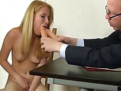 Blonde secretary inter...
