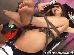 Redtube Movie:Tied up slut gets banged by va...