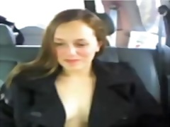 Private Home Clips - flashing in her car