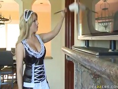 Black lingerie maid gets fucked by her boss