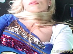 Nikita valentin makes solo porn in the car