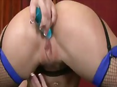 Rachel roxxx with giant boobs and smooth beaver strips down to her bare skin to masturbate naked