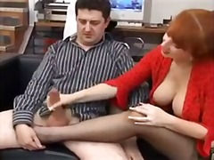 Mature handjob and foo... - Xhamster