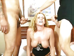 blonde, tits, group, banging, big