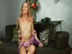 Milf sensually strips ...