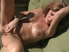 outdoors, masturbation, tits,