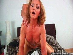 Alpha Porno Movie:Grandma with cute titties gets...