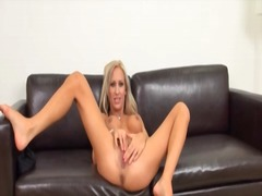 Long legged blonde wit...