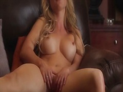 AlotPorn Movie:Blonde in lingerie fingers her...