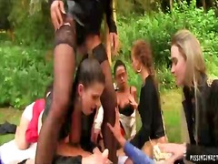 Thumb: Outdoor lesbian piss orgy