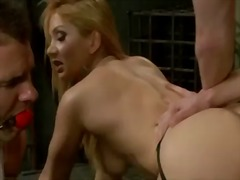 Blonde fucked infront ... video