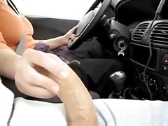 Thumb: Masturbation in a car ...
