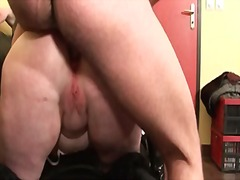 Bbw mom hard anal pounded and double ...