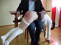 Thumb: Hard spanking of a sch...