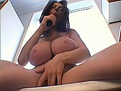 Big huge natural tits ... video