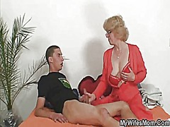 Mother-in-law fucks hi... video