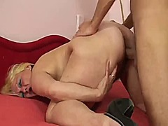granny, bbw, german, cumshot,
